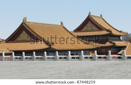 buildings at the Forbidden City in Beijing (China)