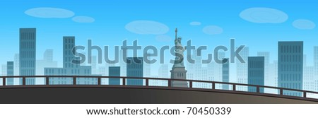 Buildings in a city, Liberty Statue, New York City, USA
