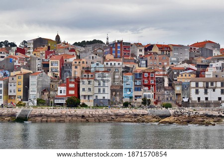 Buildings in A Guarda Pontevedra Spain Foto stock ©