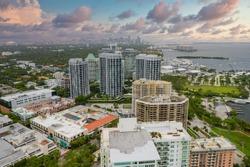 Buildings in Coconut Grove Miami FL beautiful skyscape