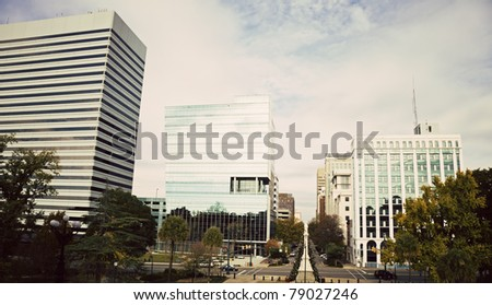 Buildings in Downtown of Columbia, South Carolina