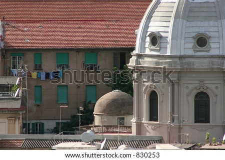 Buildings in Messina, Italy.