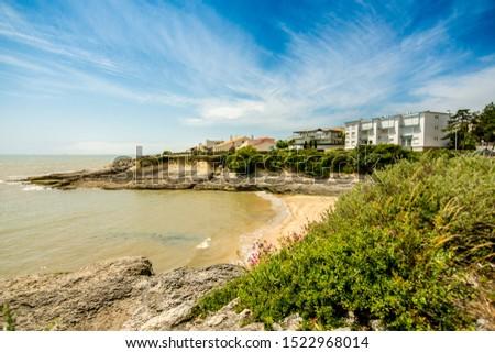 Buildings in the coastline in france