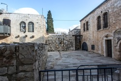 Buildings in the old part of Jerusalem, near the upper room, Israel