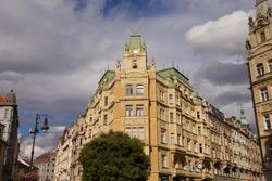 Buildings Jewish Quarter Czech Republic, Prague