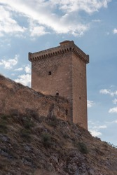Buildings of Alhama de Aragon in Zaragoza, Aragon, Spain, Europe