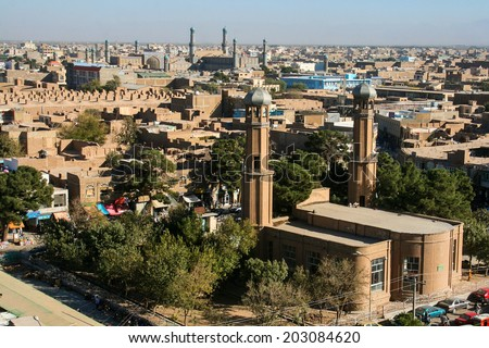 Buildings of Herat Afghanistan Herat is the third largest city of Afghanistan with a population of about 450 000