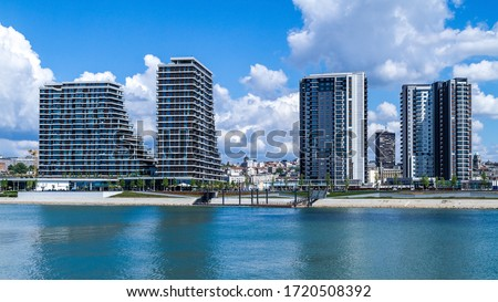 Buildings on Belgrade Waterfront new chapter in the city of Belgrade, Serbia. Belgrade Waterfront, known in Serbian as Belgrade on Water is an urban renewal development project. Stock photo ©