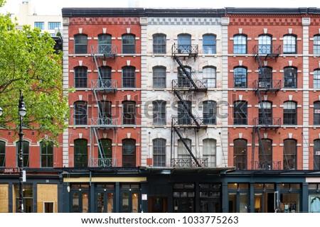 Buildings on Duane Street in the Tribeca neighborhood of Manhattan, New York City
