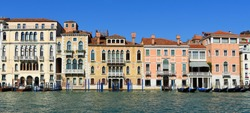 Buildings on the Grand Canal in the San Marco District of Venice.