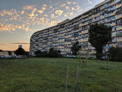 Built in Communist Poland, this block of flats, in Gdańsk, named Falowiec, is the largest building Poland spanning 2788 feet, and the largest residential building in Europe housing over 6000 residents