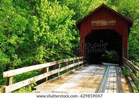 Built in 1880, the BeanBlossom Covered Bridge is one of the oldest bridges in Indiana