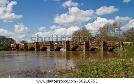 Built of ironstone and limestone, the present White Mill Bridge dates from the 16th century although  likely a bridge existed on this site from the 1100s.It spans the river Stour