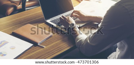 buisness man work with notebook