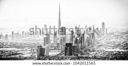 Buj Dubai from the sky.