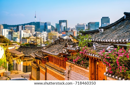 Photo of  Bukchon Hanok Village in Seoul, South Korea