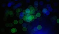 Bukeh green and blue lights