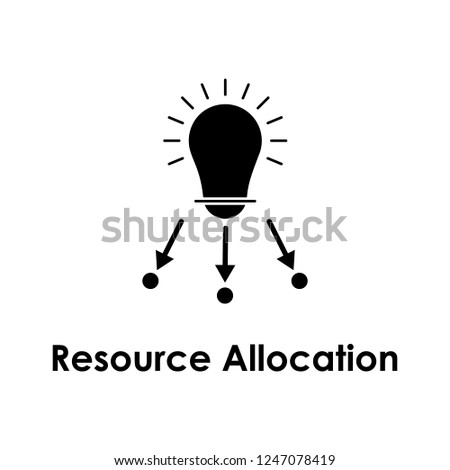 bulb, arrow, resource allocation icon. Element of business icon for mobile concept and web apps. Detailed bulb, arrow, resource allocation icon can be used for web and mobile