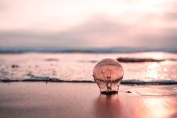 Bulb at the beach