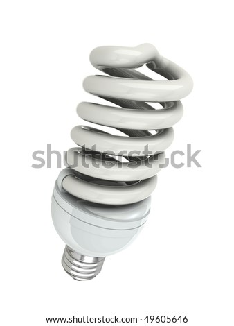 bulb energy saving fluorescent isolated on white background