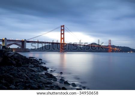 Bulb Exposure of The San Francisco Golden Gate Bridge