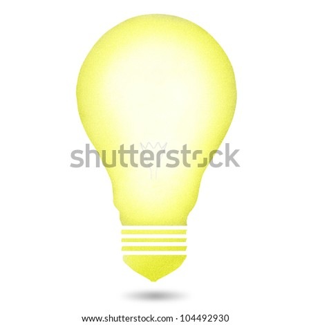 Bulb light lantern craft by cork board on white isolate (clipping path)