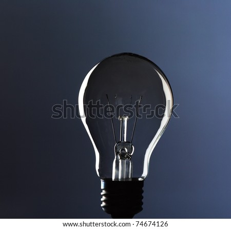 Bulb on a background of a dark blue gradient