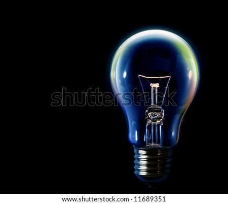 Bulb on black background