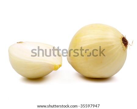 Bulb onion isolated on white background
