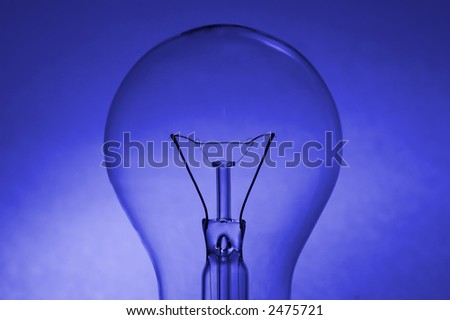 Bulb over a blue background