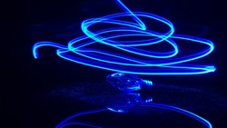 Bulb with Blue light painting