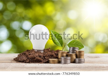 bulb with growing plant #776349850