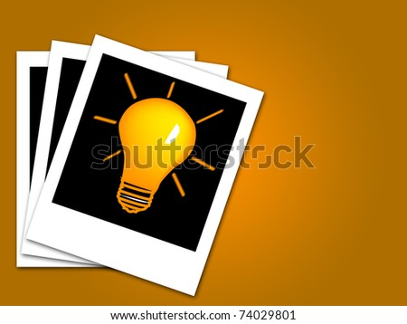 bulb with idea in black canvas