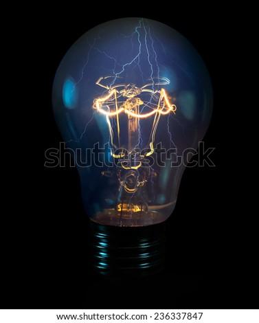 Bulb with lightning  #236337847
