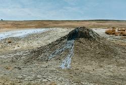 Bulganak mud volcano field, Kerch Peninsula, Crimea, Ukraine