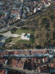 Bulgaria cityscape drone