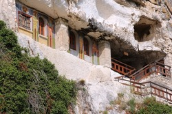 Bulgaria - rock-hewn churches of Ivanovo. Famous UNESCO World Heritage Site.
