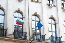 Bulgarian flag in Sofia City, Bulgaria