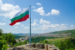 bulgarian flag in veliko tarnovo tsarevets