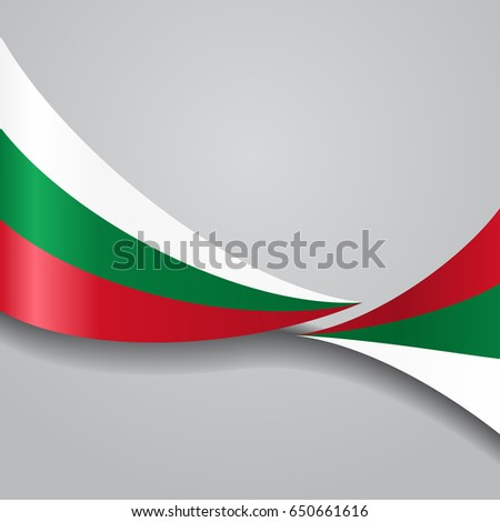 Bulgarian flag wavy abstract background. Raster version.
