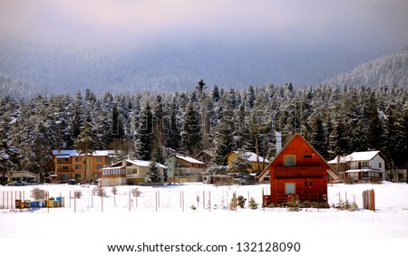 bulgarian mountain resort in winter time