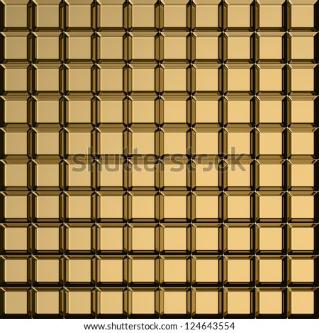Bulging squares on the golden metal template