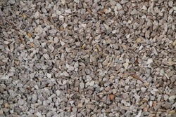 Bulk gravel rock for sale in Spain. Texture and background.