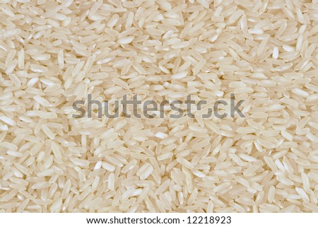Bulk whole grain instant cooking rice background texture