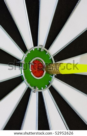 bull\'s-eye, a concept of success and competitiveness