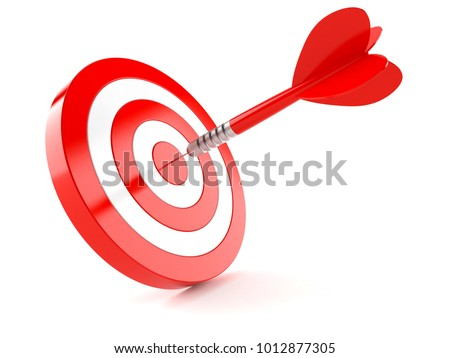 Bull's eye isolated on white background. 3d illustration