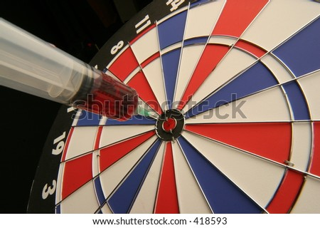 bull's-eye with medicine on target