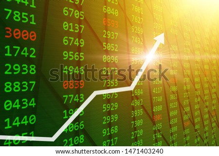 Bull Stock Market - Good stock buy prices up from Global economic and financial  grow