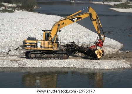 Bulldozer at the beach