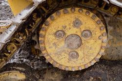 Bulldozer Sprocket and Track Closeup
